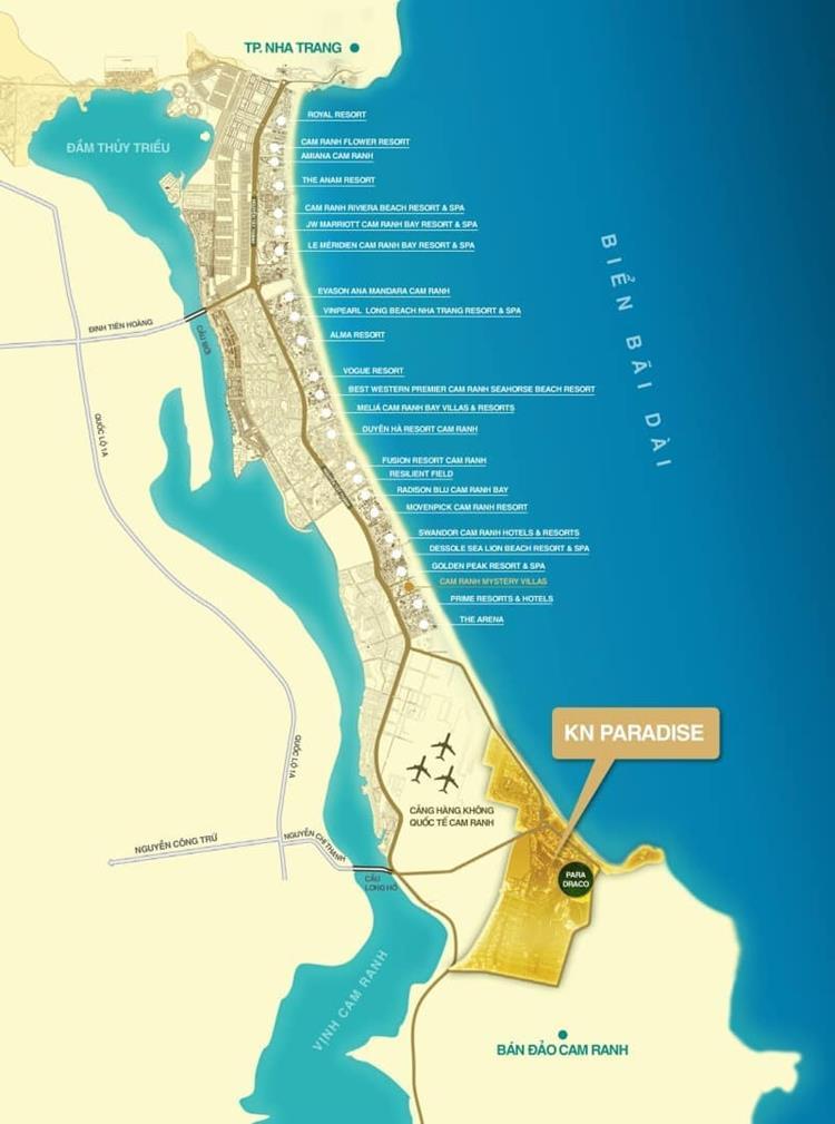Vị trí khu nghỉ dưỡngPara Draco Cam Ranh Khánh Hoà