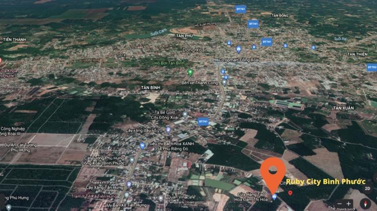 Vị trí khu dân cư Ruby City Bình Phước