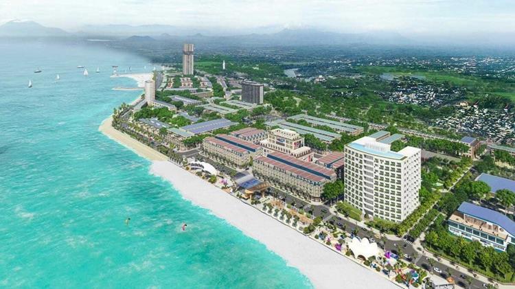 Lợi thế toạ lạc dự án Lagi New City Bình Thuận tiếp giáp biển