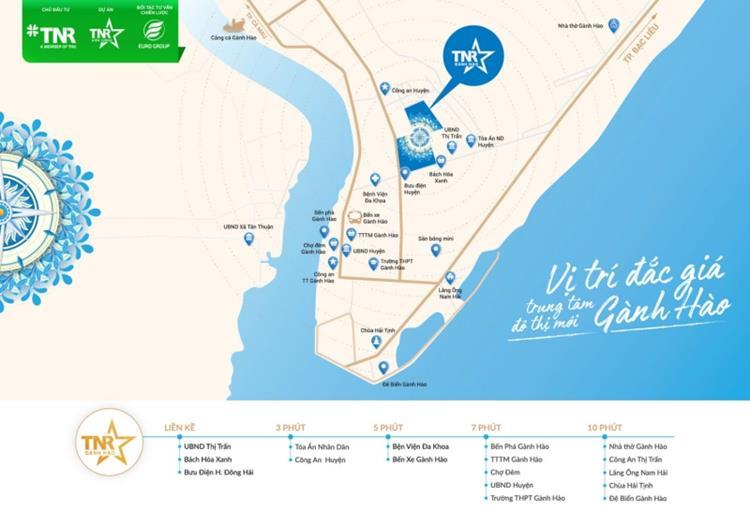 Vị trí khu đô thịTNR Stars Đông Hải