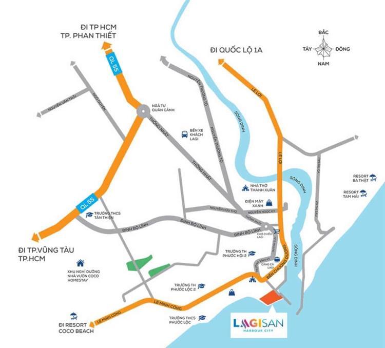 Vị trí khu đô thị Lagisan Harbour City