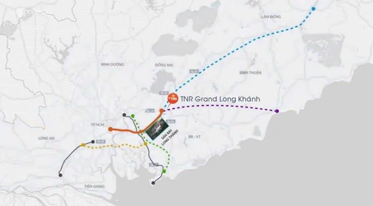 Vị trí khu đô thịTNR Grand Long Khánh