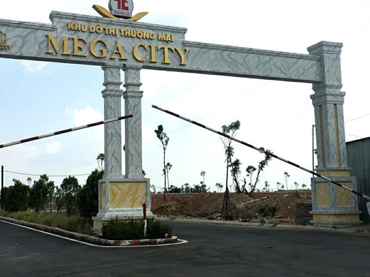 Cổng khu đô thị Mega City Bến Cát, Bình Dương
