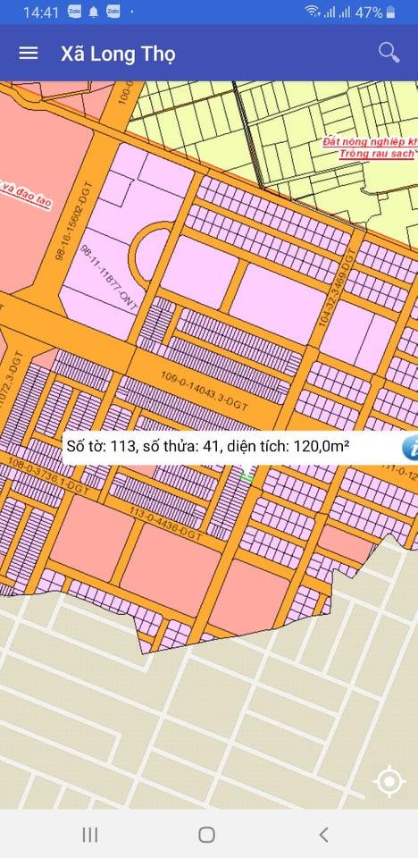 Đất HUD Long Thọ số 113/41 một xẹc đường 53m