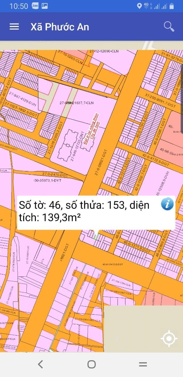 Đất nền Phước An số 46/153 giá siêu hot 870 triệu gần đường lớn