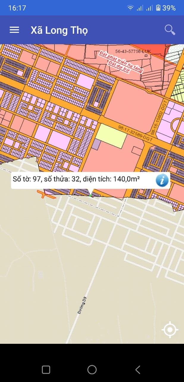 Đất Long Thọ số 97/32 giá siêu rẻ 940 triệu