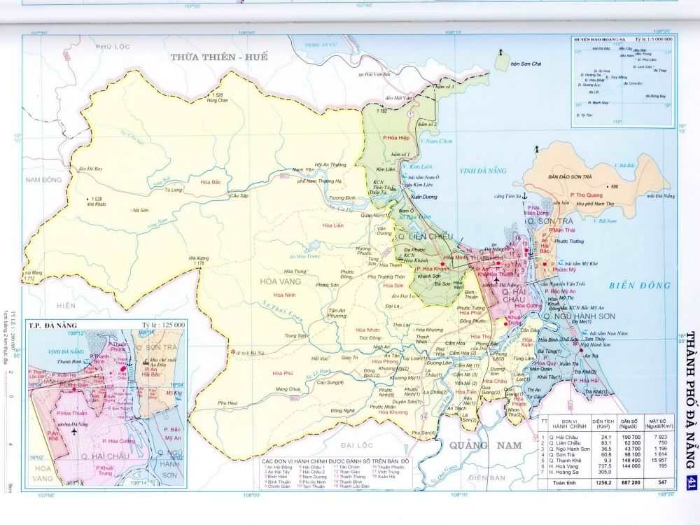 Bản đồ thành phố Đà Nẵng