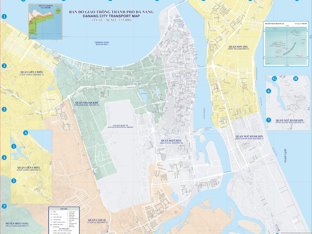 Bản đồ các tuyến đường thành phố Đà Nẵng