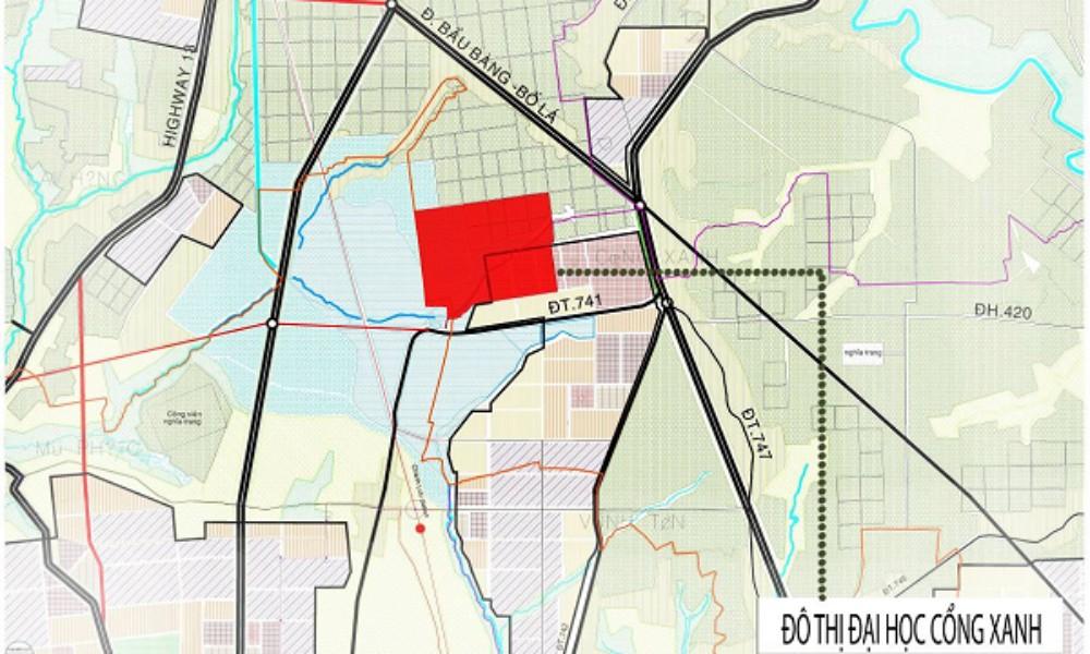 Thông tin quy hoạch Khu đô thị Đại học Cổng Xanh Tân Uyên