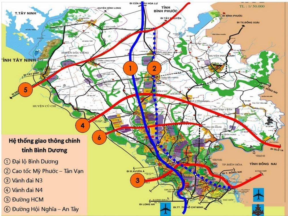 Bản đồ đường Vành đai 3 đoạn Bình Chuẩn – Tân Vạn (Bình Dương)