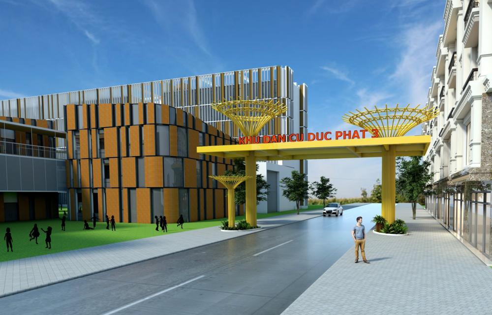 Cổng chính dự án Đức Phát 3