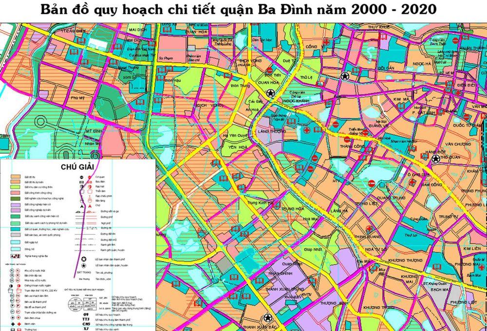 Bản đồ Thànphố Ba Đình giai đoạn 2000-2020