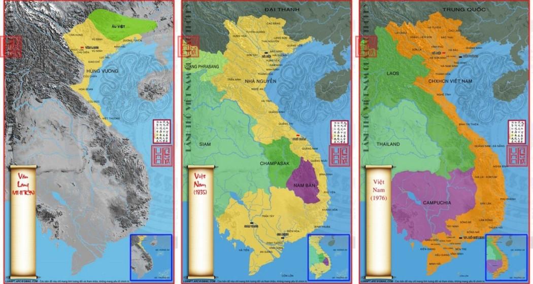 Bản đồ Việt Nam qua các thời kỳ