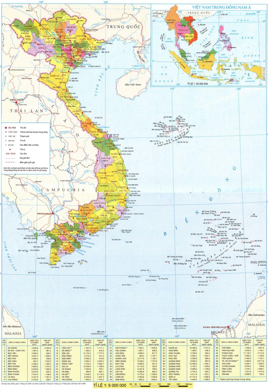 Bản đồ vị trí địa lý Việt Nam