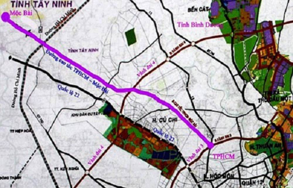 Bản đồ quy hoạch cao tốc TP HCM - Mộc Bài