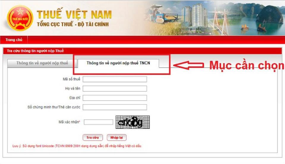 Bước 1 Cách tra cứu mã số thuế cá nhân bằng CMND nhanh nhất