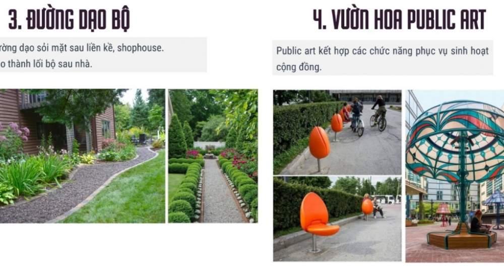 Đường đi bộ và vuồn hoa Public Prt của FLC Legacy Kontum