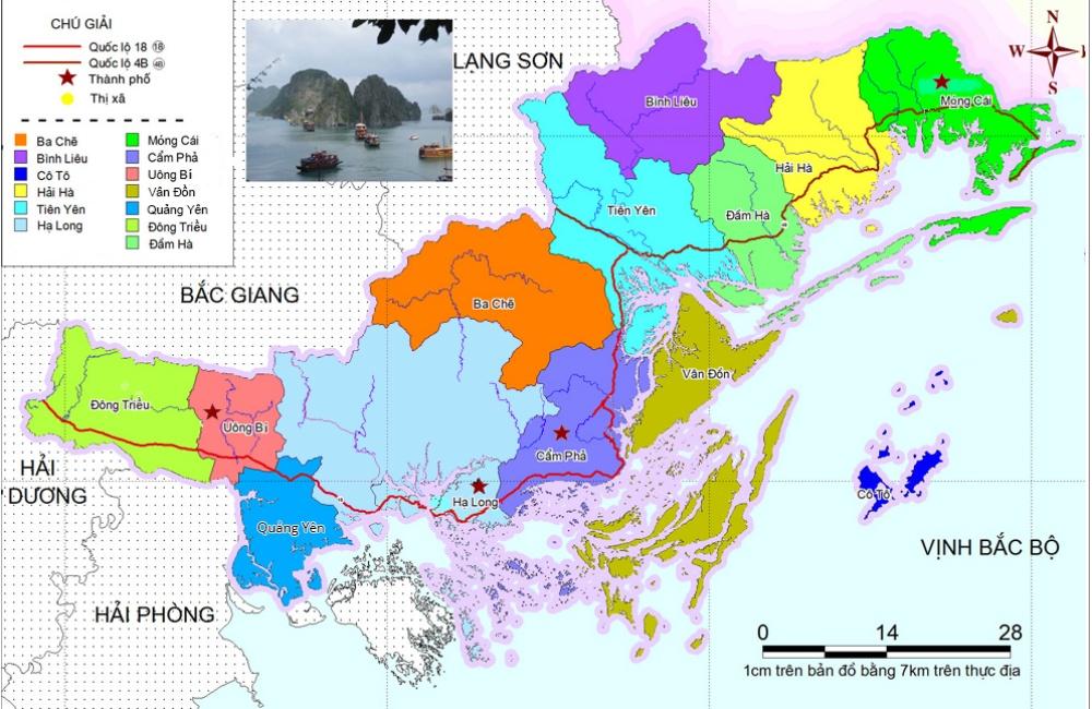 Bản đồ Tỉnh Quảng Ninh Khổ Lớn Phong To