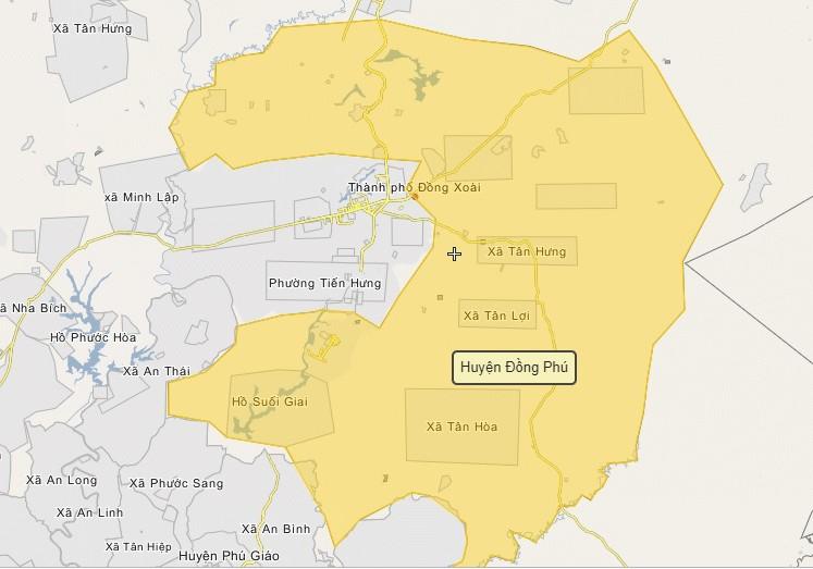 Cập nhật mới nhất Thông tin quy hoạch & bản đồ huyện Đồng Phú, tỉnh Bình Phước 3