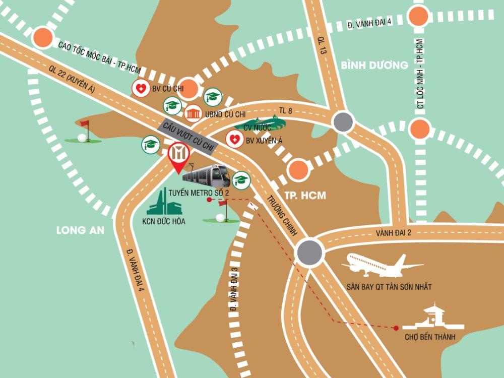 Cầu vượt Củ Chi kết nối trung tâm TP HCM với huyện Củ Chi