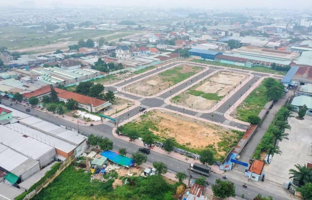 Mặt bằng dự án đất nền Thuận An Central Bình Dương đã hoàn thiện