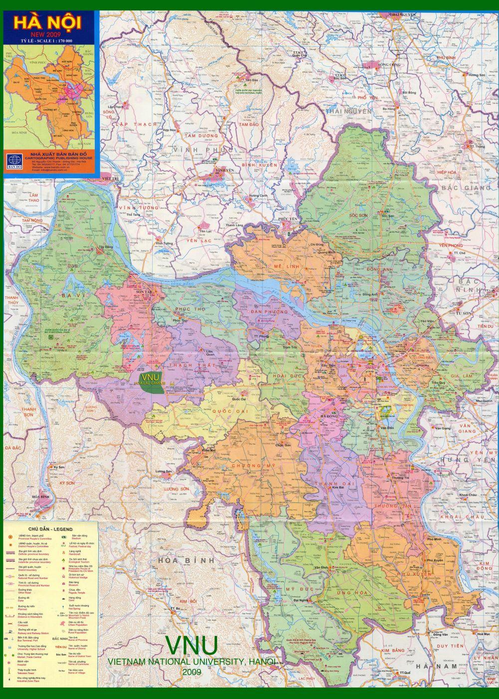 10203627 ban do ha noi 12 quan moi nhat - Bản đồ TP Hà Nội hiện tại có 30 đơn vị hành chính cấp huyện,