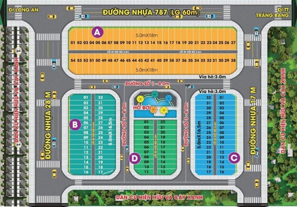 Mặt bằng dự ánMai Anh Mega Mall Trảng Bàng Tây Ninh