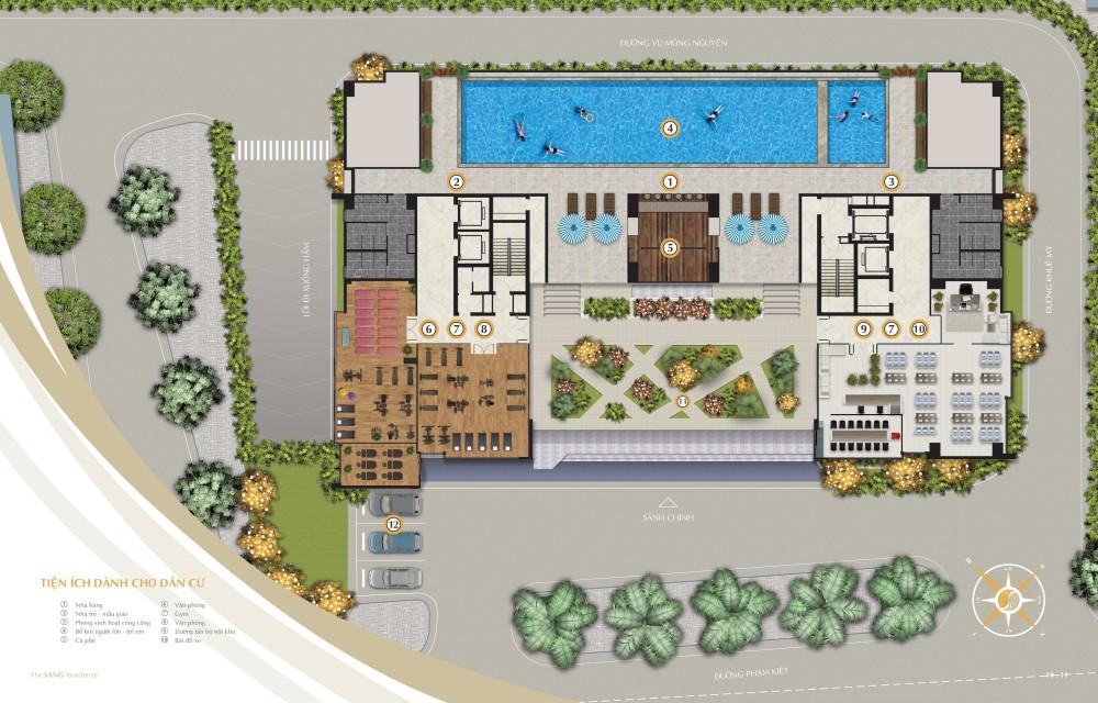 Tiện ích dự án căn hộ The Sang Residence Đà Nẵng