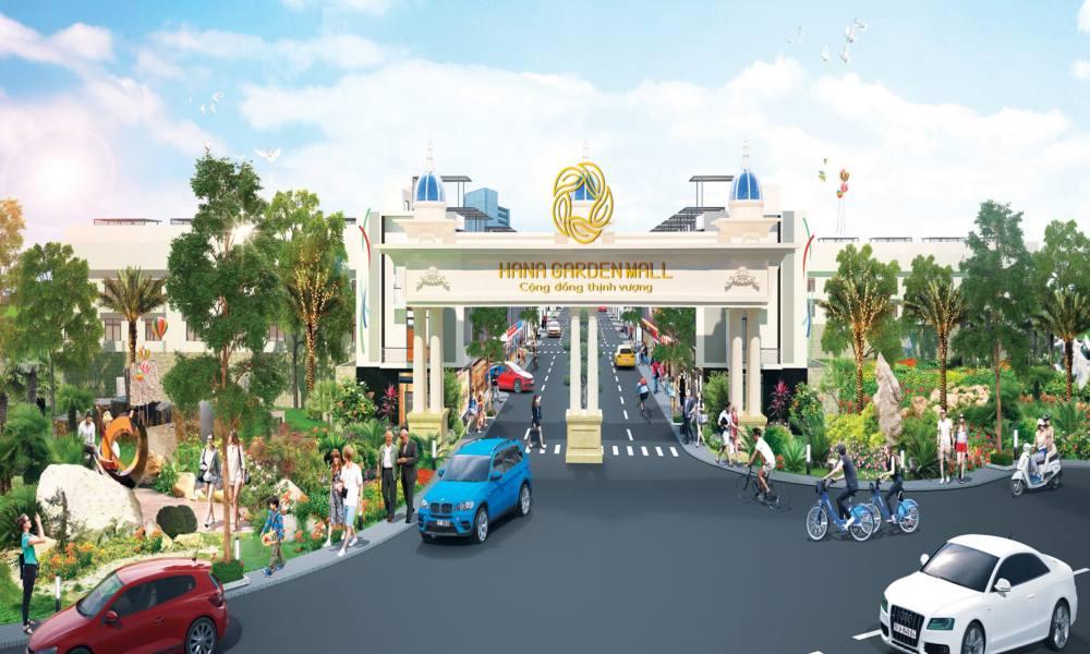 Cổng dự án Hana Garden Mall Bình Dương