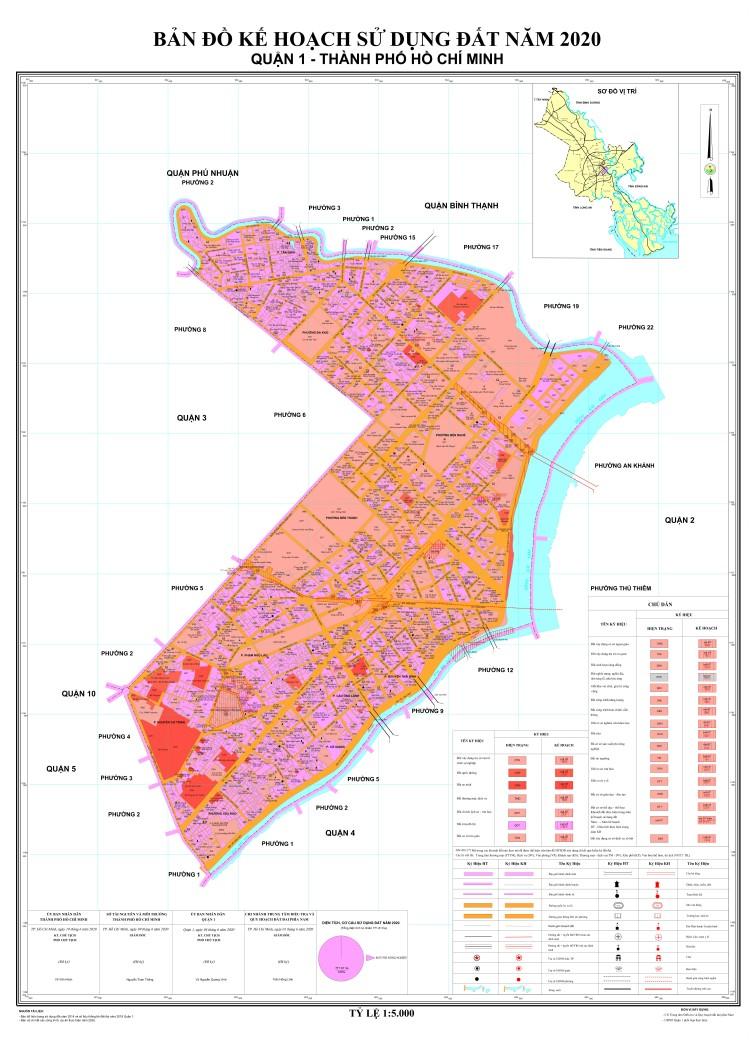 Bản đồ quy hoạch sử dụng Quận 1 mới nhất