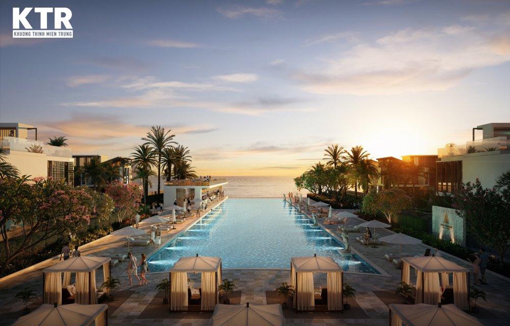 Hồ bơi dự án Aria Đà Nẵng Hotel & Resort Đà Nẵng