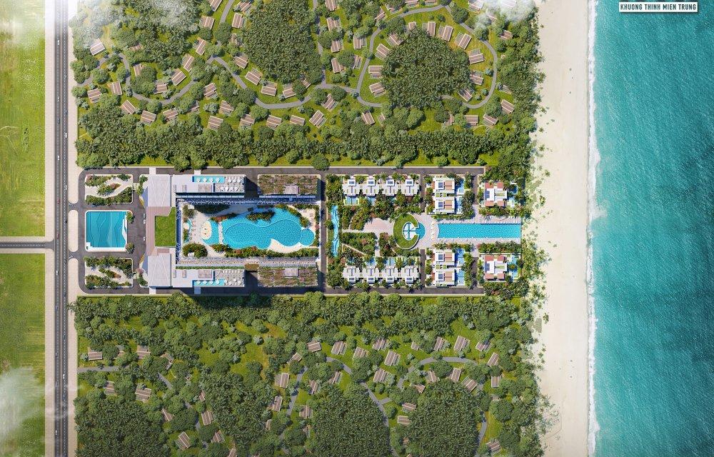 Chụp từ trên cao Aria Đà Nẵng Hotel & Resort Đà Nẵng