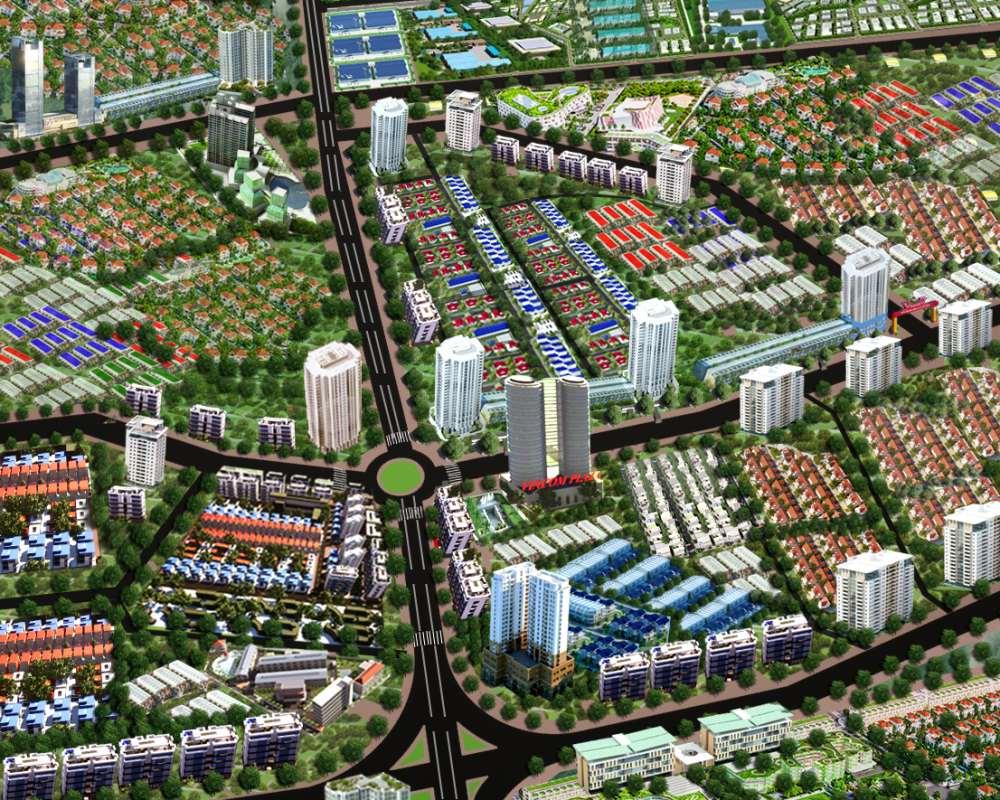 Phối cảnh dự án Gateway Center Chơn Thành Bình Phước