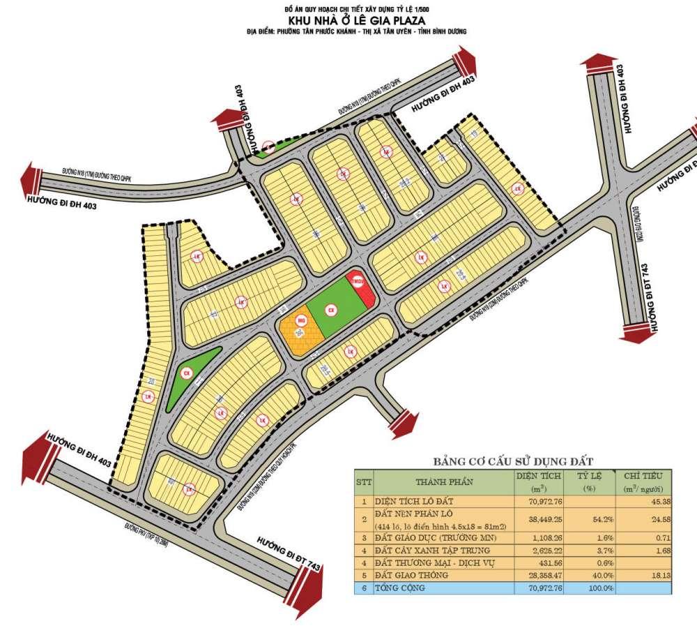 Sơ đồ phân lô dự án Lê Gai Plaza