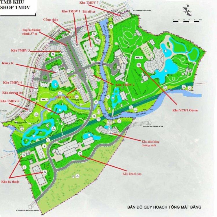 Mặt bẳng phân lô tổng thể dự án Spring Valley Tuyên Quang