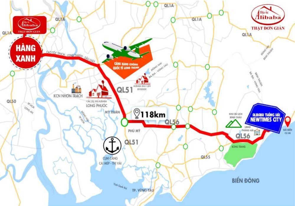 Ví trí dự án Alibaba Thắng Hải Newtimes City