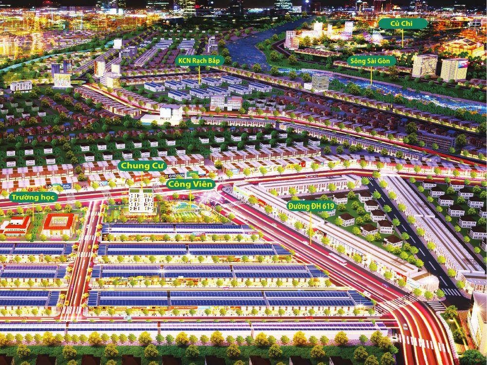 Phối cảnh tổng thể dự án The Eden City Bình Dương