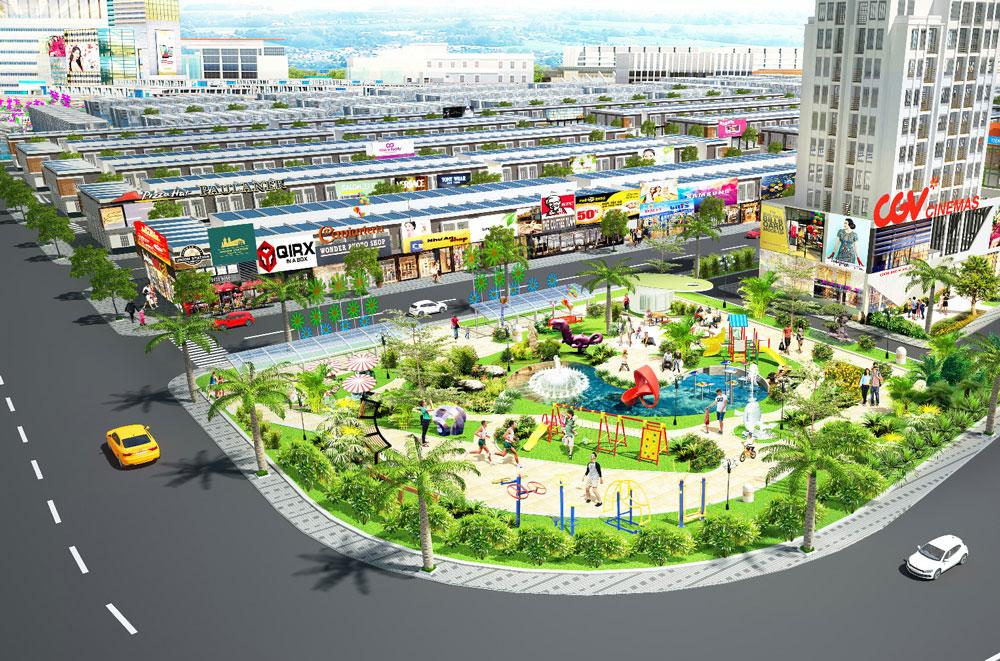 Công viên trung tâm dự án The Eden City Bình Dương