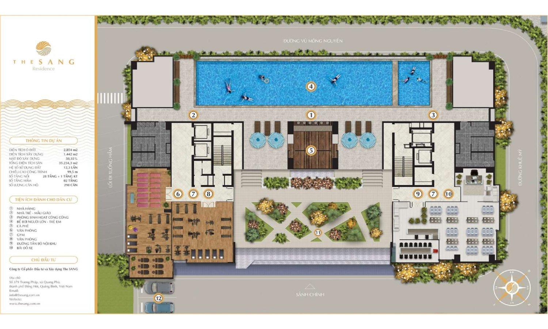 Thiết kế tiện ích The Sang Residence