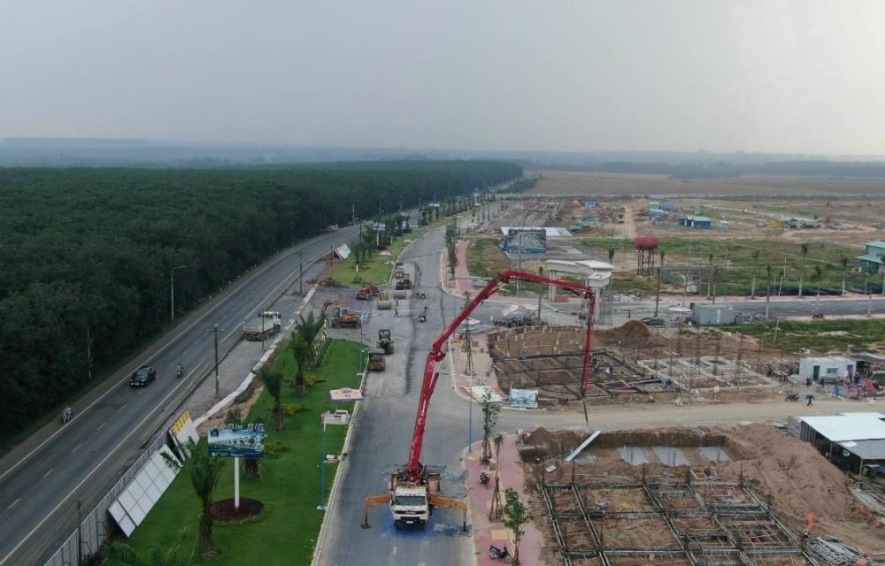 Nhiều trục đường giao thông nội khu của dự án đã hoàn thành