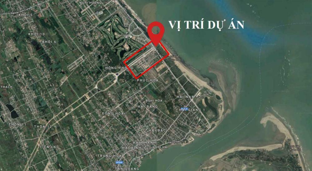Vị trí dự án Cửa Lò Beach Villas Nghệ An trên Google Map