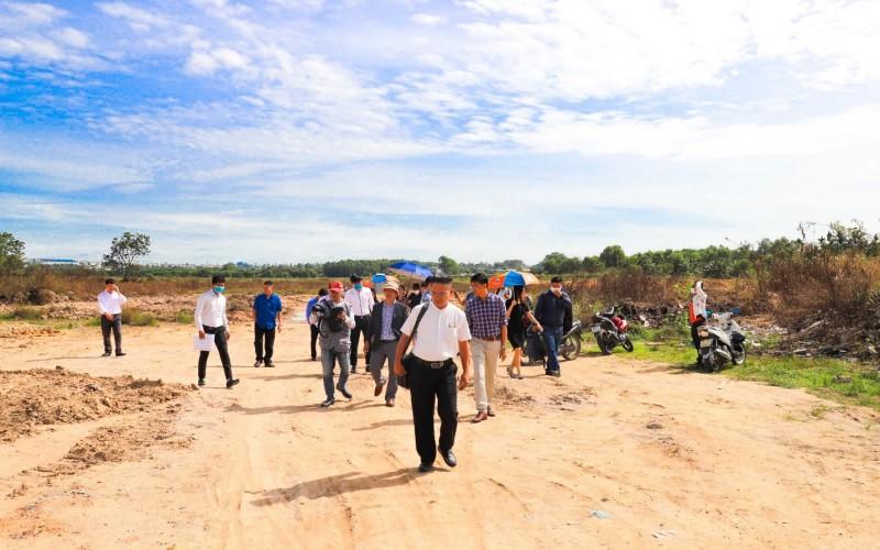 Hình ảnh thực tế tại buổi tham quan thực địa dự án Khu dân cư Hòa Lân