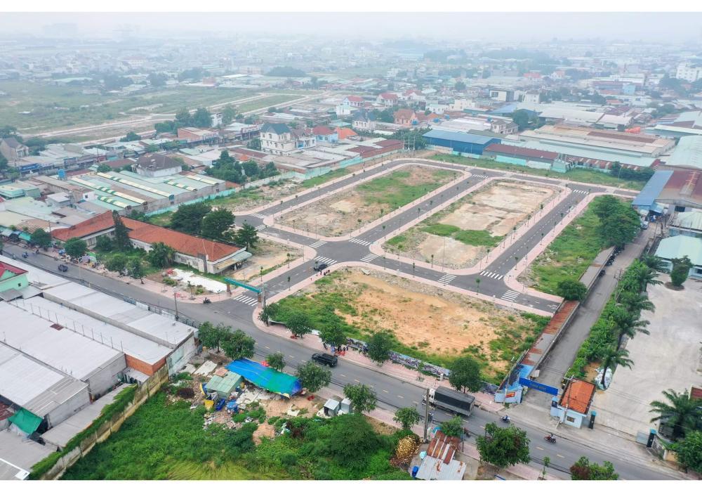 Hạ tầng dự án Thuận An Central Bình Dương chụp trên cao