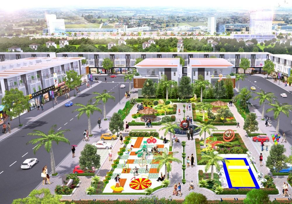 Công viên dự án Phố Thương mại Lộc Phát Bàu Bàng