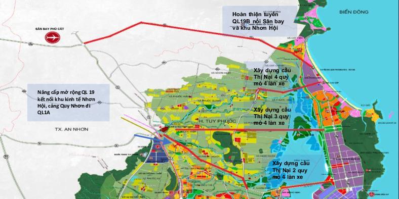 Quy hoạch giao thông tại Nhơn Hội