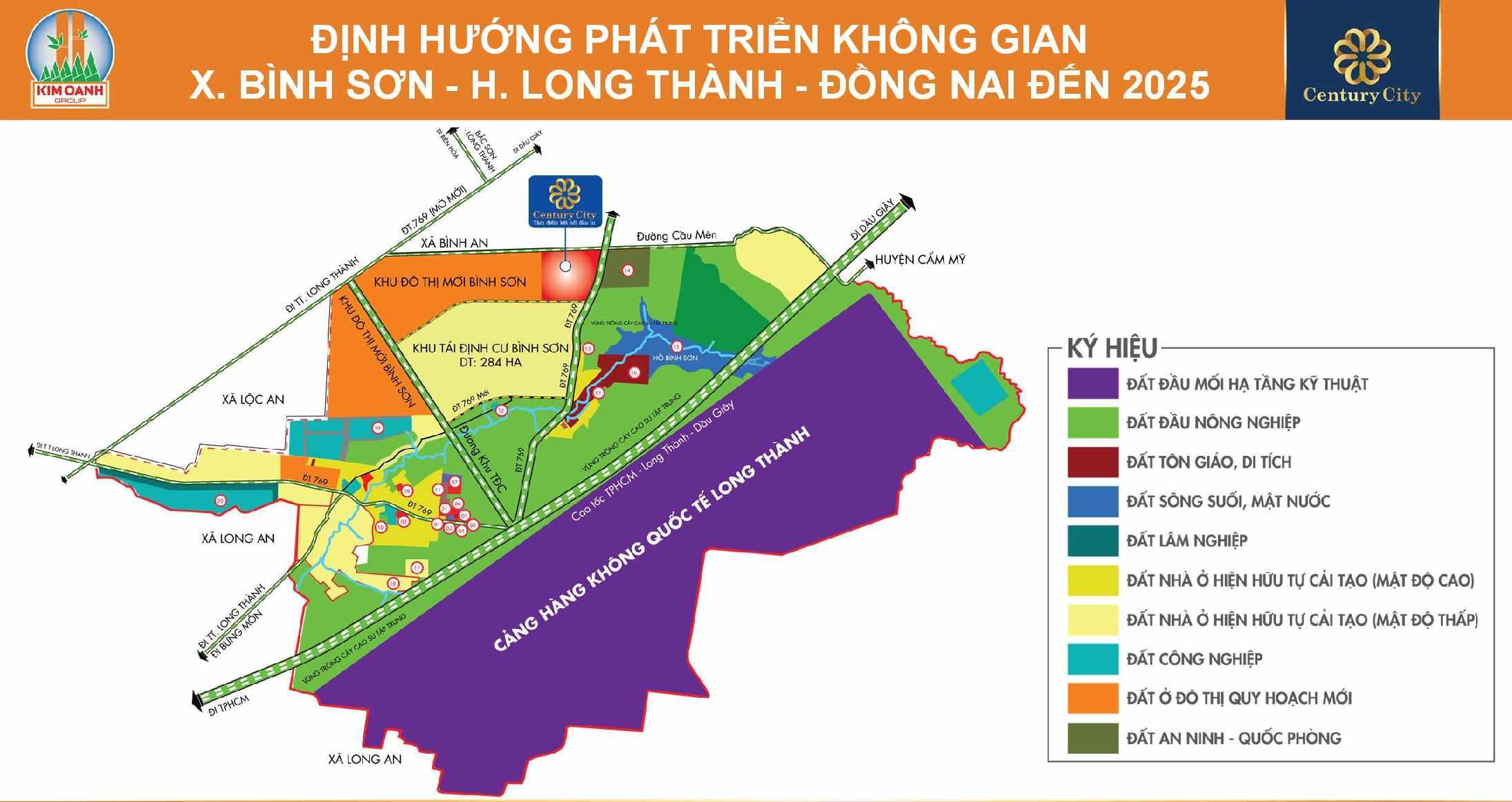 Định hướng phát triển không gian tại xã Bình Sơn, huyện Long Thành, tỉnh Đồng Nai đến 2025