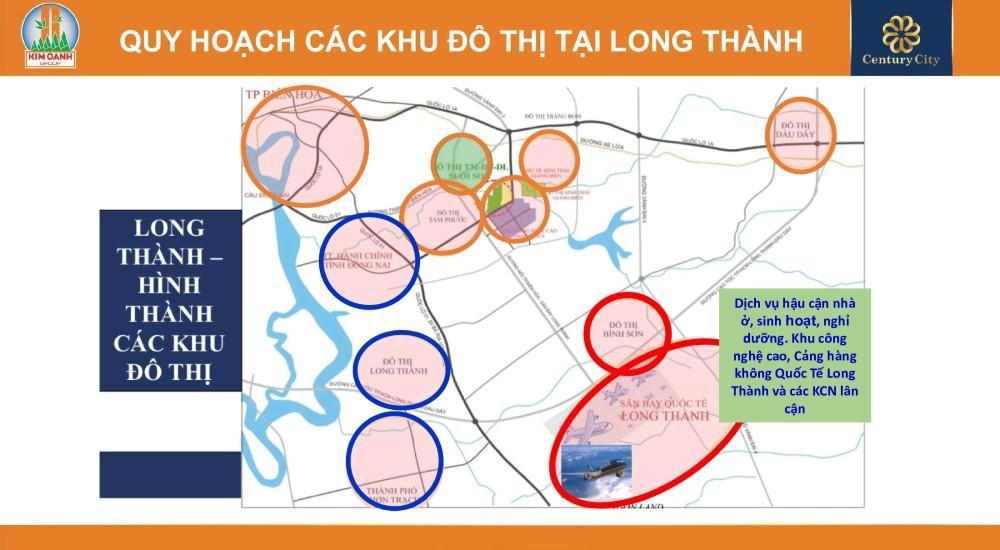 Quy hoạch các khu đô thị tại huyện Long Thành