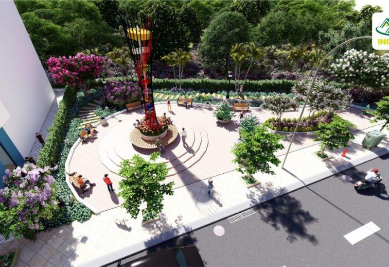 Công viên trung tâm dự án đất nền INCO City Bình Dương