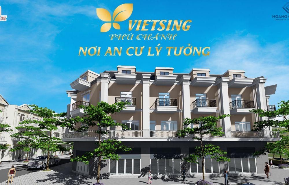 Phối cảnh dự án đất nền nhà phố VietSing Phú Chánh Bình Dương