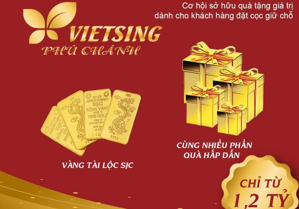 Giá bán dự án đất nền nhà phố VietSing Phú Chánh Bình Dương chỉ 1.2 tỷ/căn